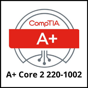 IT training coures - comptia a plus core 2 220 - 1002 - ASG
